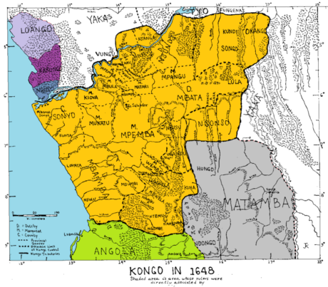 Map of Kongo in 1648