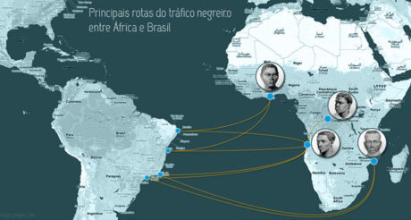 Main Slave Routes between Africa & Brazil
